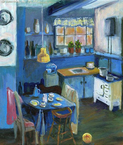 kitchen paintings danish kitchen painting by art nomad sandra hansen