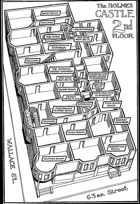 h and h homes floor plans the hotel of h h holmes bizarrepedia
