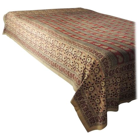 paisley coverlet vintage hand blocked qalamkar paisley coverlet for sale at