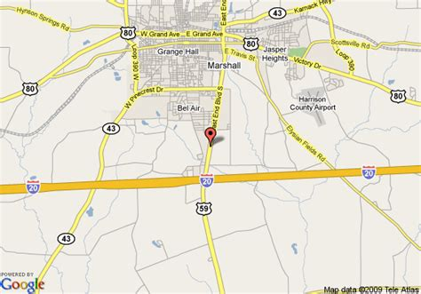 map of marshall texas map of quality inn marshall marshall