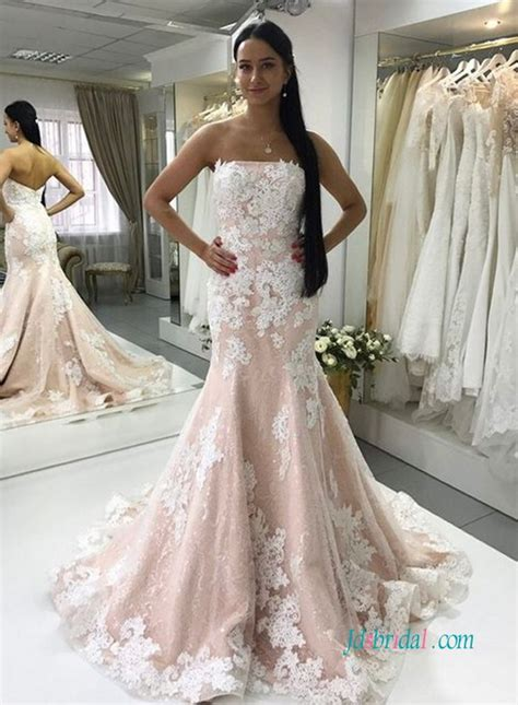 Pink White Wedding Dresses by Jdsbridal Purchase Wholesale Price Wedding Dresses Prom