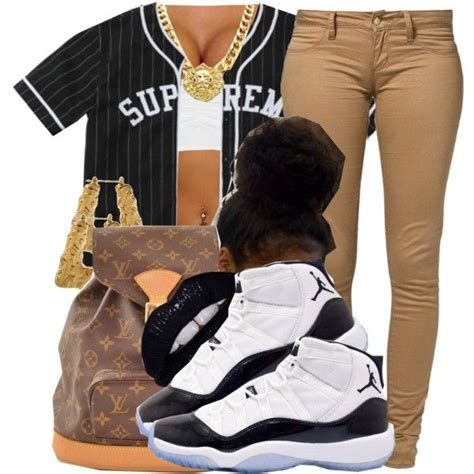 supreme  trinityannetrinity  polyvore outfits