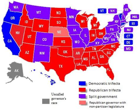map of us states by political us state governments one after the