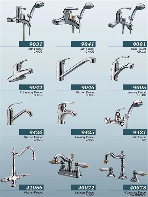 types of faucets kitchen lavatory faucet
