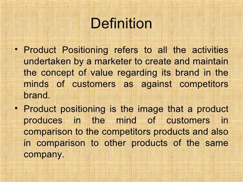 product definition of product by the free dictionary 11 4 product positioning