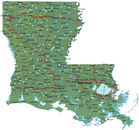 Louisiana Search Map Of Louisiana Louisiana Maps Mapsof Net
