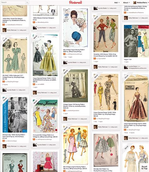 sewing pattern on pinterest calling all pinterest junkies vintage sewing pattern