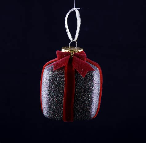 christmas ornaments by eb glitter present