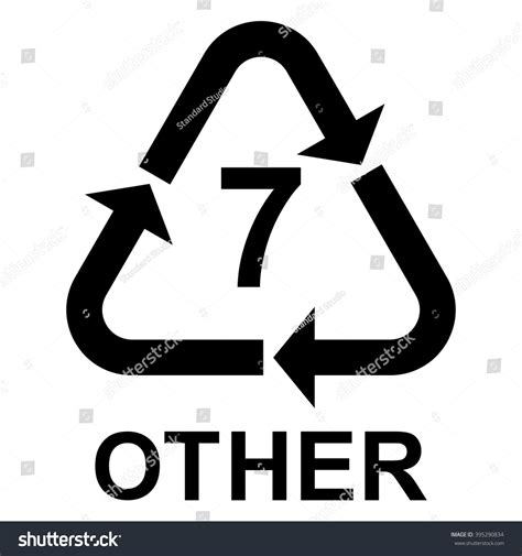 Skrap Pvc 7 plastic recycling symbol other 7 plastic stock vector 395290834