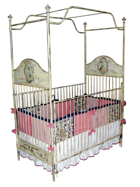 Canopy Crib by Painted Iron Canopy Crib