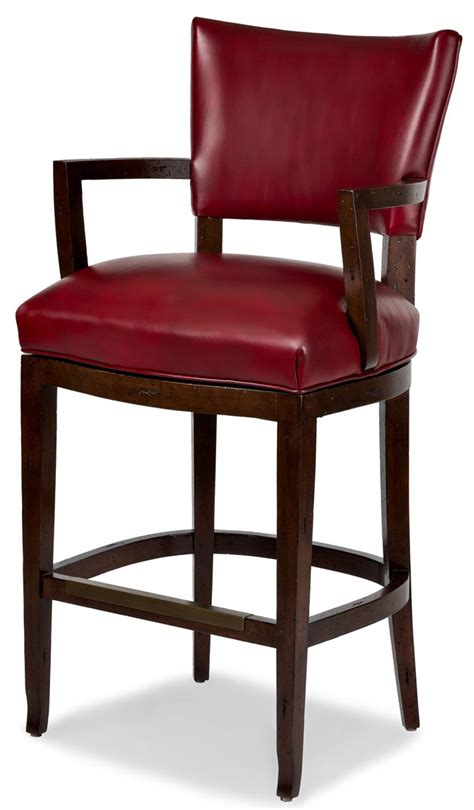 leather bar stools with arms red leather bar stool with arms