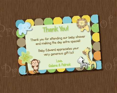 printable lion king thank you cards printable thank you card baby shower king of jungle monkey