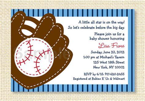 baseball baby shower invitation all sports