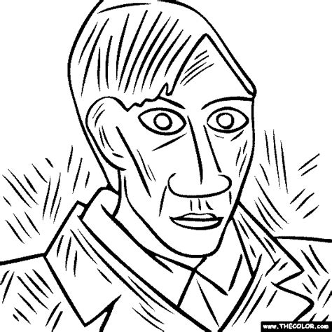 pablo picasso coloring pages 24713 bestofcoloring com