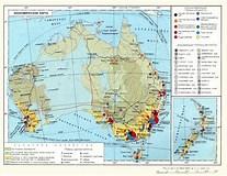 """Результат поиска изображений по запросу """"Австралия - Новая Зеландия"""". Размер: 207 х 160. Источник: geography_atlas.academic.ru"""