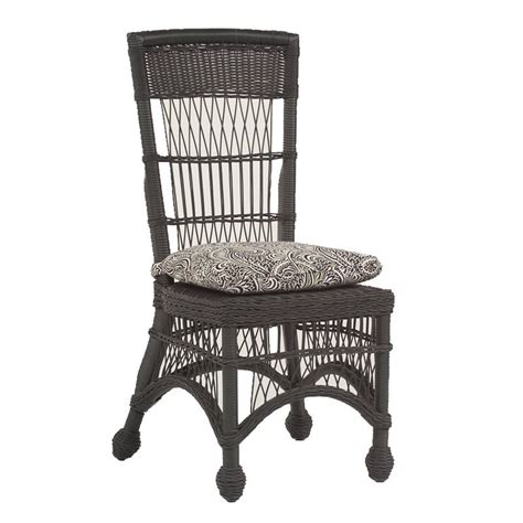 Wicker Dining Chair Cushions Replacement Cushion Whitecraft By Woodard Cottage Wicker Highback Dining Side Chair