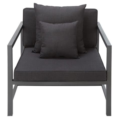 Charcoal Grey Armchair by Aluminium Garden Armchair In Charcoal Grey Ithaque