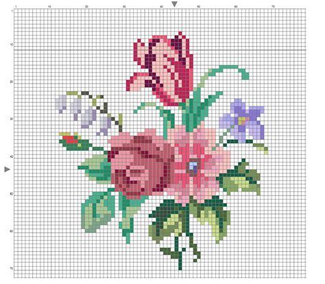 bouquet fiori di co bouquet di fiori schemi fiori punto croce