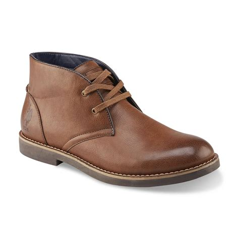 u s polo assn s bleeker brown chukka boot