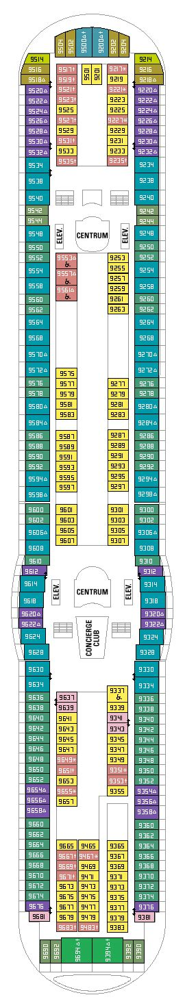 adventure of the seas floor plan adventure of the seas deck 9 plan