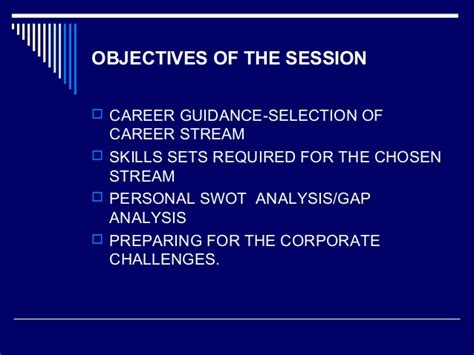 objectives of career guidance career guidance for students