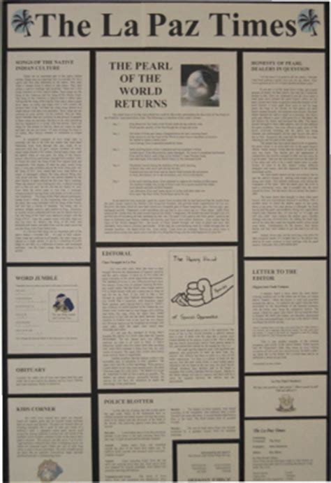 newspaper book report project newspaper book report project template