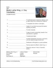 free martin luther king worksheets learning can be fun