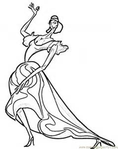 Spanish Fan Coloring Page Passionate Flamenco sketch template