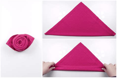 How To Make Napkin Origami - how to make a beautiful origami napkin