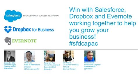 dropbox not working win with salesforce dropbox and evernote working together