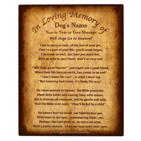 pets in heaven gift for owners personalized will dogs go to heaven poem plaques zazzle