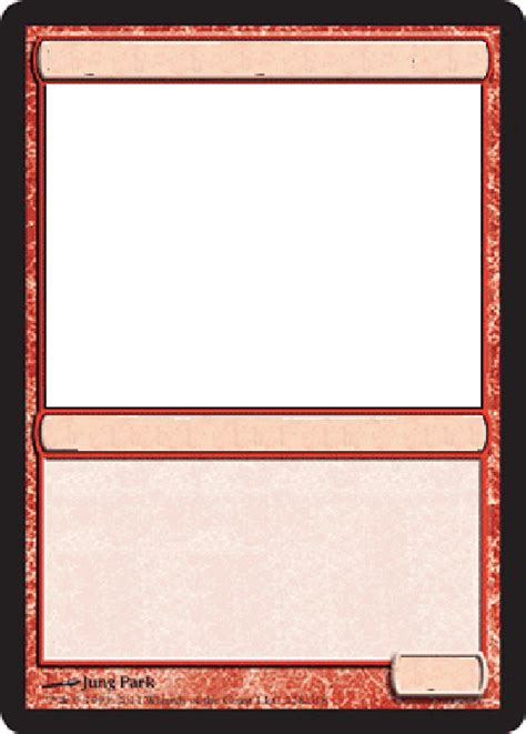 magic the gathering card template png best photos of template magic card card