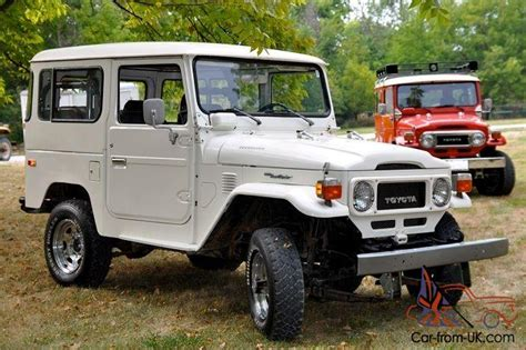 original land cruiser toyota land cruiser fj40 original cygnus white chrome wheels