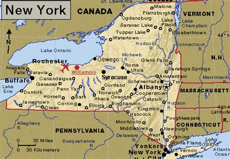 state map of new york directions to alard equipment corp used food processing