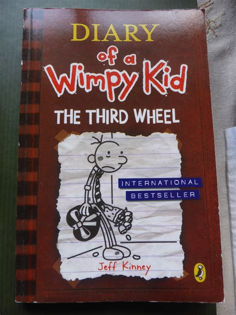 the diary of a diary of a wimpy kid the third wheel by jeff kinney jimholroyd365b