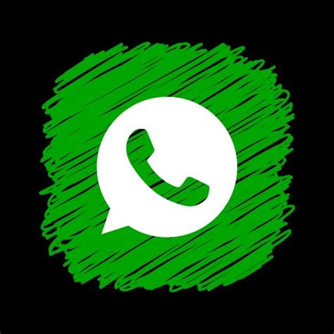 whatsapp scribble square icon   call logo