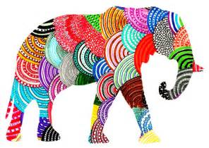 colorful elephant http vegan hippie