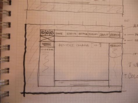 Sketches And Wireframes by Webdesignsketches21 40 Exles Of Web Design Sketches And