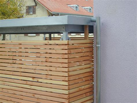 Carport Stahl Holz by Stahl Carport Und Holz Sichtschutz In Schwenningen