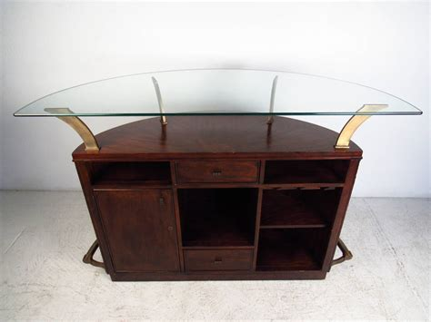 mid century modern glass top bar by universal furniture