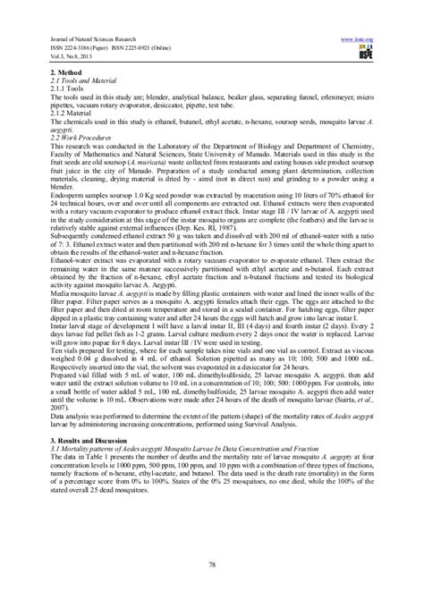 guyabano research paper survival analysis larvacide of fractionation plant seeds