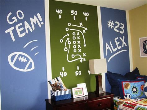 sports themed room wall murals decals sports themed interiors