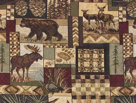 Lodge Upholstery Fabric by Rustic Lodge Fabric Wildlife Moose Deer