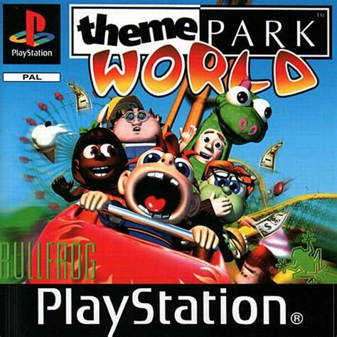 theme park world ps1 sim theme park box shot for playstation gamefaqs