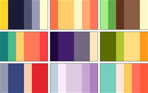 color palettes 2 by rrrai on deviantart