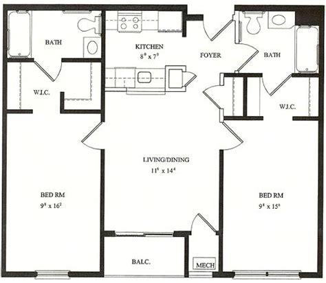 best 2 bedroom house plans processcodi