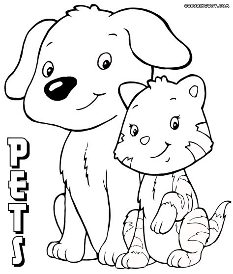 printable coloring pages pets pets coloring pages coloring pages to and print