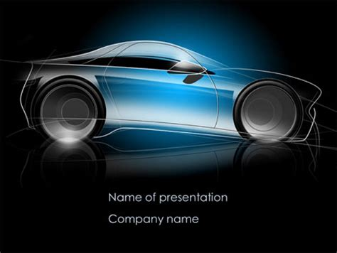 car powerpoint template concept car modeling presentation template for powerpoint