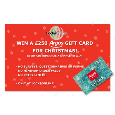 Win Free Gift Cards Online - win a free 163 250 argos gift card at locks online locks online