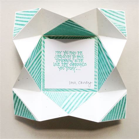 Creative Ways To Fold Paper - napkin fold card with design
